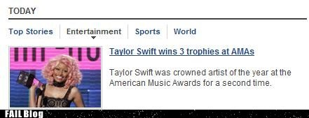 celebities taylor swift wrong picture - 5462445312