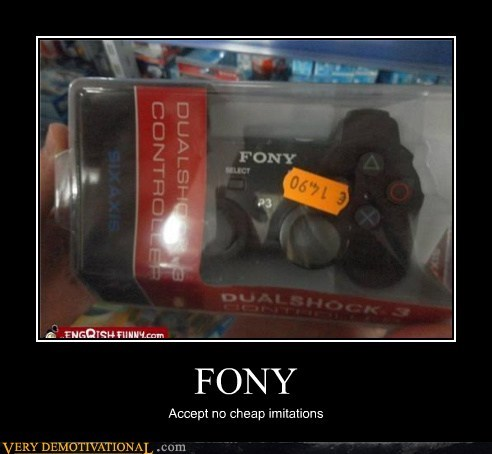 controller,fake,hilarious,phony,Sony