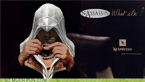 assassin,assassins creed,ezio,logo,lolwut,nespresso,nestle,shoop