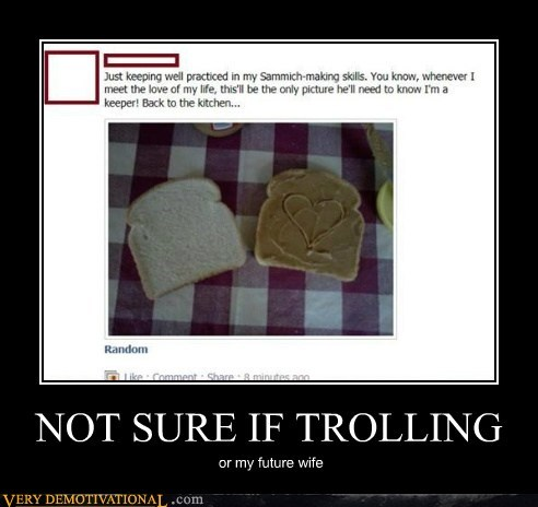 facebook hilarious sandwich trolling wife
