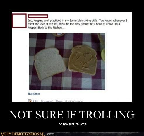 facebook hilarious sandwich trolling wife - 5463036160