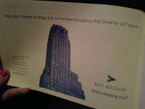 BNY Mellon,Occupy Wall Street,Questionable Marketing Ca