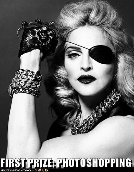 singers eye patch first prize Madonna old photoshopped prizes - 5463286272