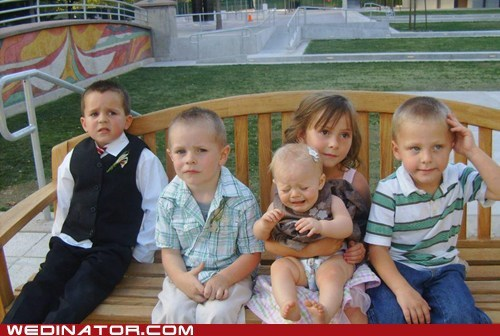 Babies,children,funny wedding photos,kids,Sad