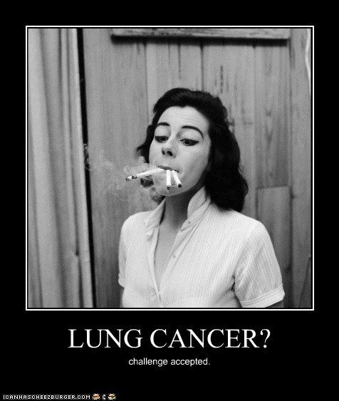 demotivational funny lady Photo smoking - 5463780864