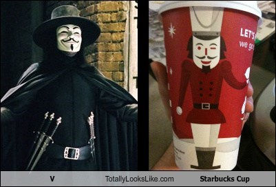 funny Hugo Weaving starbucks cup TLL v