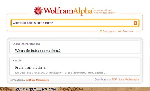 Babies mother wolfram alpha - 5463945984