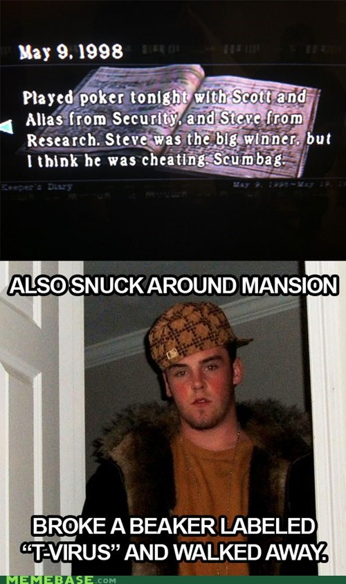 cheat mansion Scumbag Steve video games virus what - 5464027648