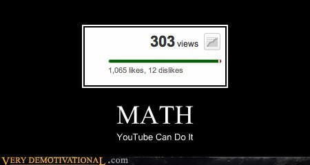 Image of: Memes Dislikes Hilarious Likes Math Views Youtube 5464030720 The Fader Very Demotivational Views Very Demotivational Posters Start