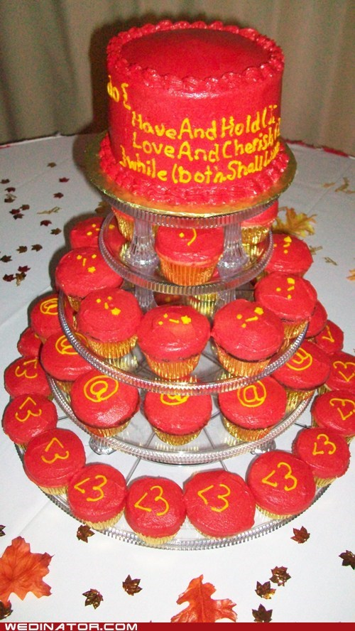 cakes code computers cupcakes funny wedding photos geek HTML wedding cake - 5464055552