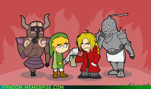 blonde,edward,Fan Art,full metal alchemist,legend of zelda,robot,spirit tracks