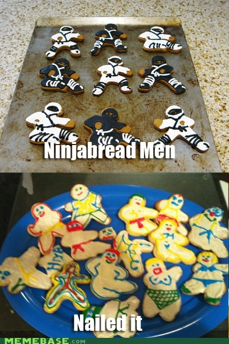 gingerbread kids Nailed It ninjabread what