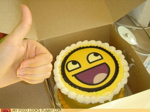 awesome face cake smile yay