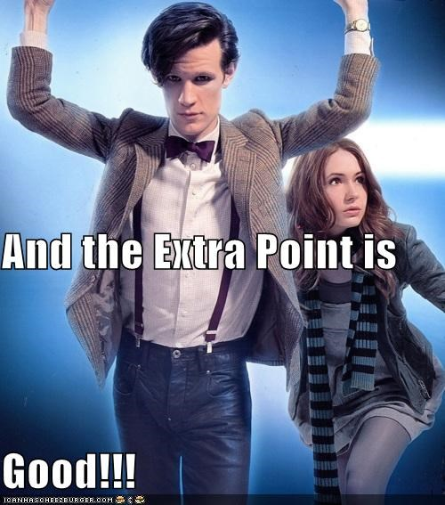 amy pond,doctor who,extra point,field goal,football,karen gillan,Matt Smith,referee,the doctor