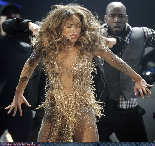 chewbacca jennifer lopez music awards