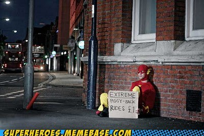 brilliant flash piggy-back ride Superhero IRL - 5464436992