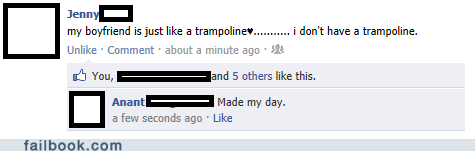 boyfriend forever alone trampoline