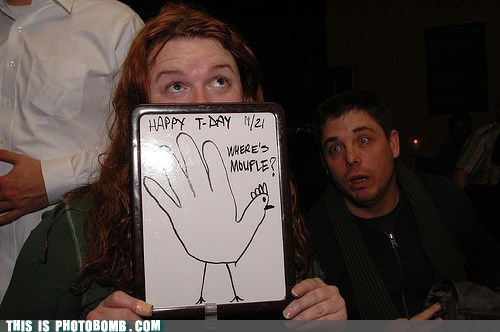 awesome dat hand turkey hand turkey happy t-day thanksgiving - 5464587776