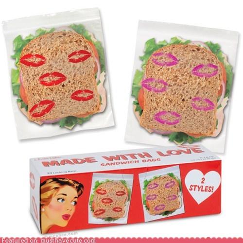 kisses love lunch sandwich bag - 5464616448