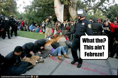 cops pepper spray police political pictures Protest protesters UC Davis - 5464623616