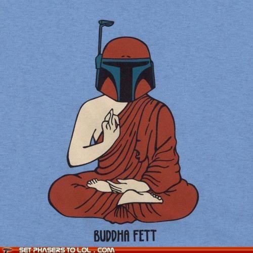 boba fett,buddha,puns,star wars