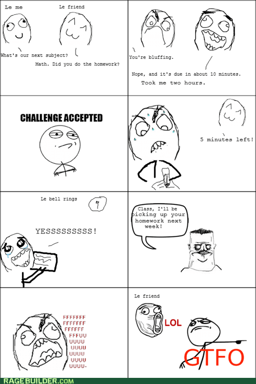 due date homework math Rage Comics - 5464732928
