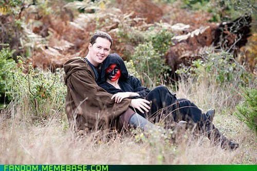 awesome,cosplay,engagement photos,nerds,star wars