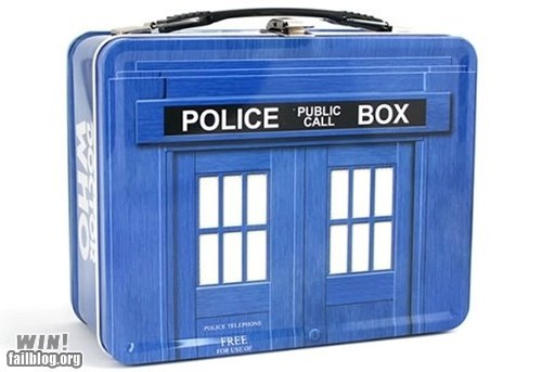 doctor who,food,lunch,lunch box,nerdgasm,sci fi,tardis