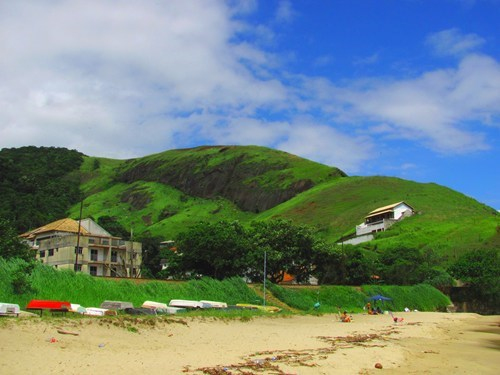 beach blue sky brazil clouds destination of the week first class ticket getaways green hills - 5464915968