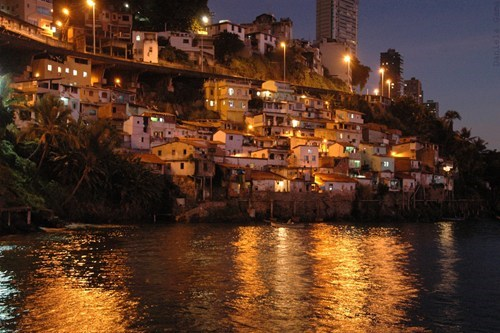 architecture,brazil,coastal town,destination of the week,first class ticket,getaways,night,night photography,ocean,town,water
