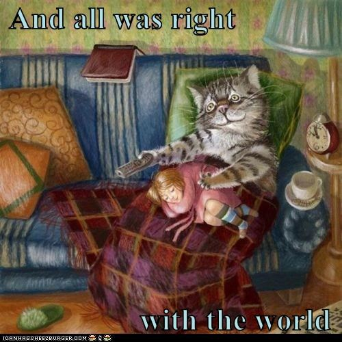 all caption captioned cat human illustration lolwut right role reversal weird world - 5465115904