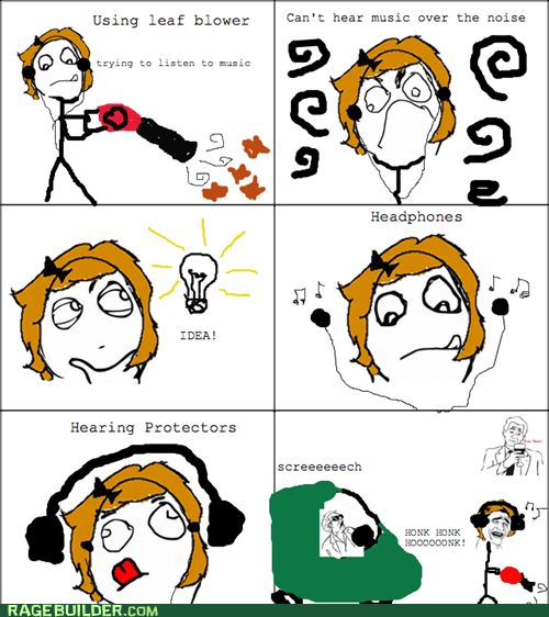 deaf headphones hearing protection Rage Comics - 5465157376