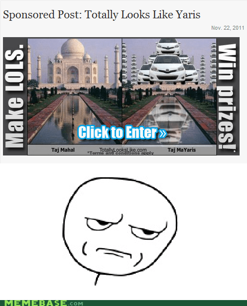 Ad,do not want,Rage Comics,yaris