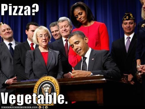 barack obama pizza political pictures vegetable - 5465382656