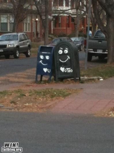 dawww face graffiti hacked irl mailbox tag - 5465492480