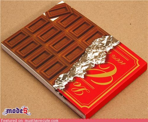 chocolate cover notepad paper stationery - 5465591552