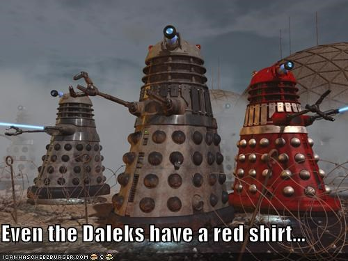 best of the week,daleks,doctor who,Exterminate,red shirts