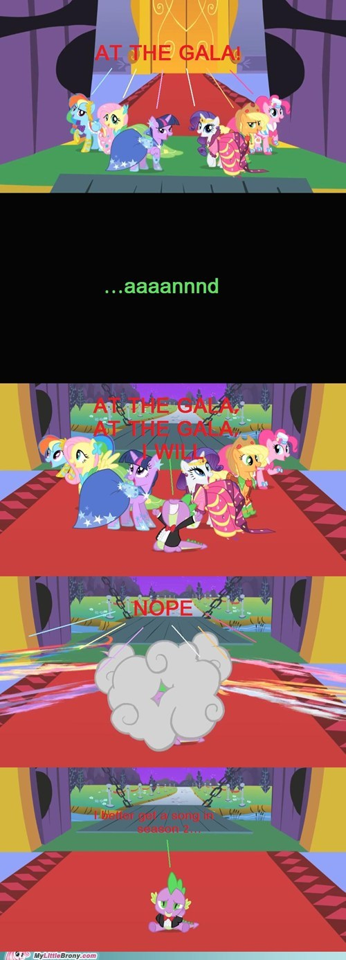 at the gala,comics,musical number,poor spike,rarity,song,spike