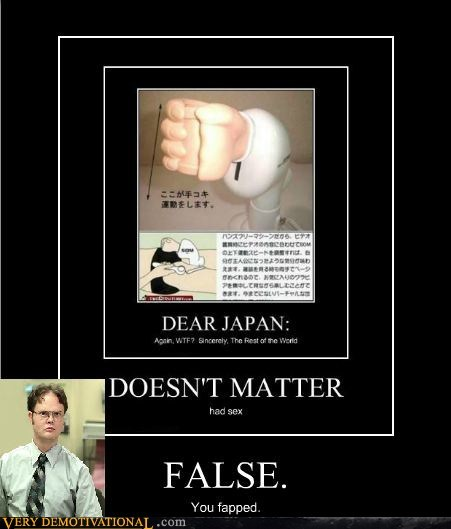dwight false fapping hilarious Japan - 5465932032