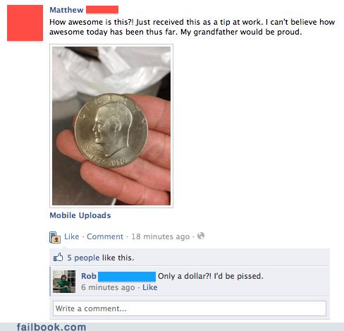 coin Eisenhower dollar image money tip - 5466010368