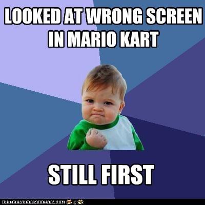 Mario Kart nintendo screen success kid video games - 5466039040