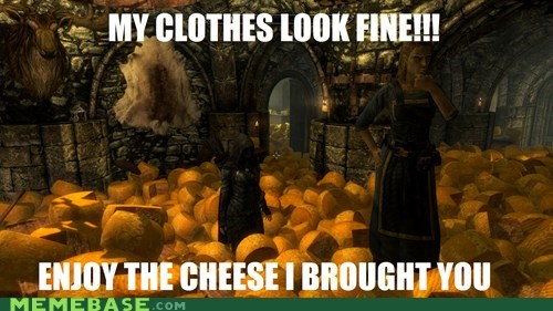 cheese clothes Memes Skyrim video games - 5466178048