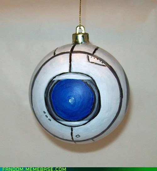 christmas christmas ornament Fan Art portal 2 video games Wheatley - 5466364416