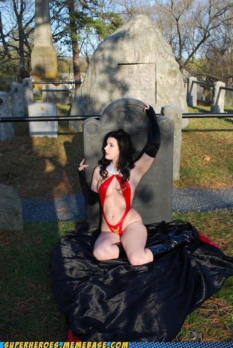 costume graveyard Sexy Ladies Super Costume vampirella - 5467199232