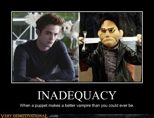 edward hilarious inadequate puppet twilight vampire - 5467379200