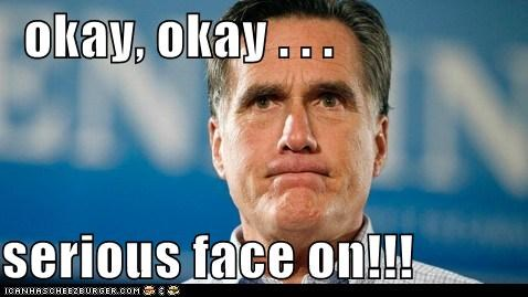 game face,Mitt Romney,political,politics,presidential race,primary,Pundit Kitchen,republican