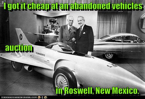 abandoned car Aliens automobile car car auction historic lols new mexico roswell vehicle - 5467415040