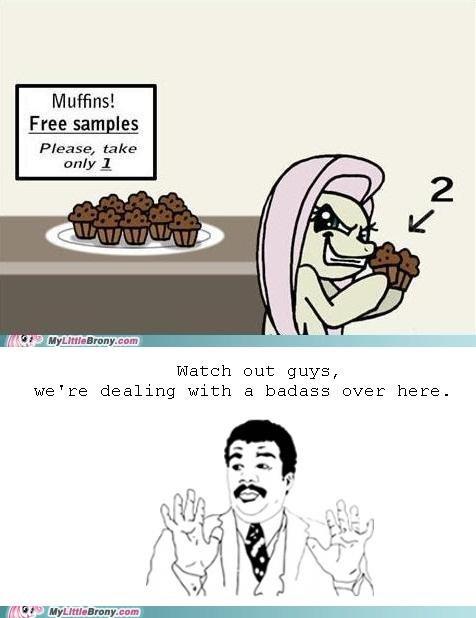 Badass flutterwry meme muffin thief Neil deGrasse Tyson - 5467808256