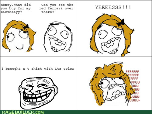 color,ferarri,present,Rage Comics,red,troll