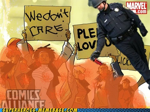 Memes Pepper Spray Cop protestors Super-Lols wtf - 5468059136